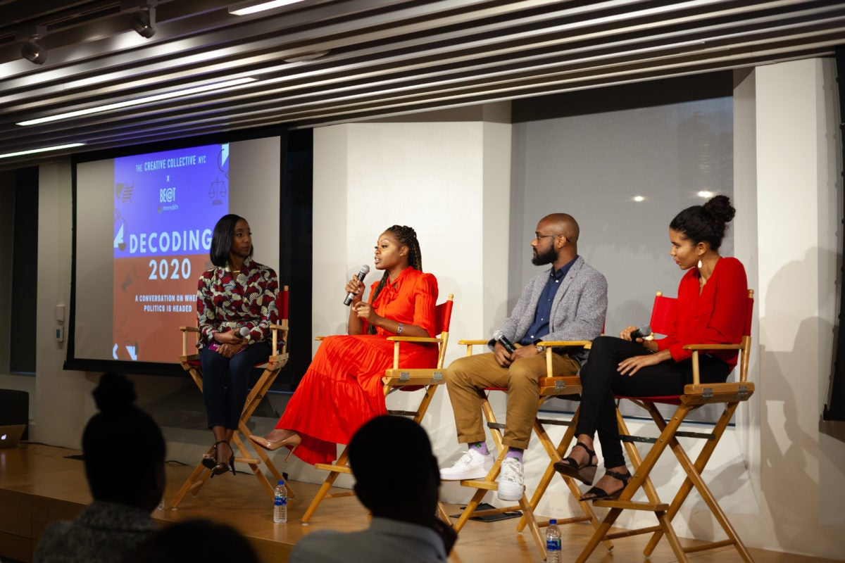 Creative Collective panel on 2020 elections
