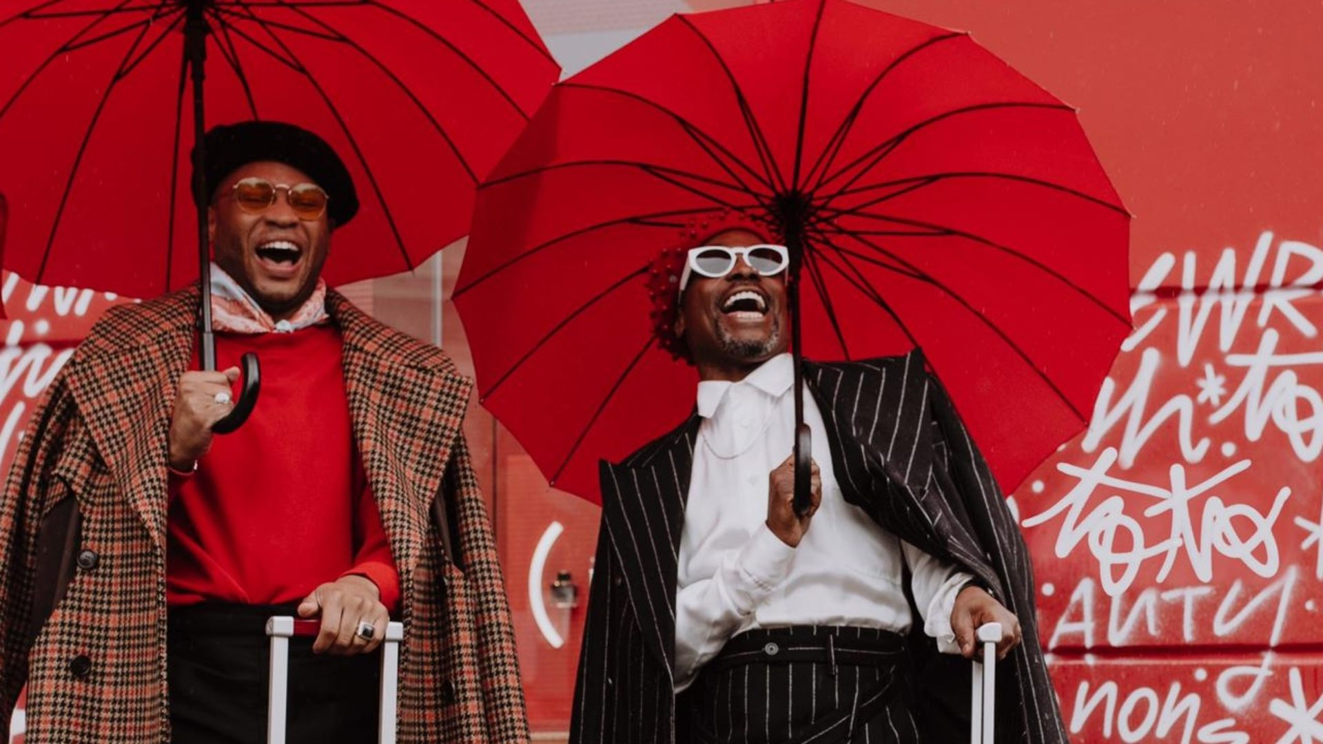 Billy Porter And Ryan Jamaal Swain Painted Paris Red With Montblanc