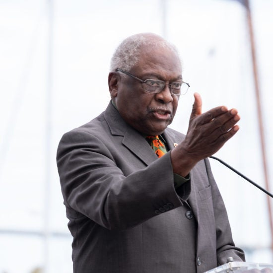 A Tearful Jim Clyburn Helps Break Ground On The International African American Museum