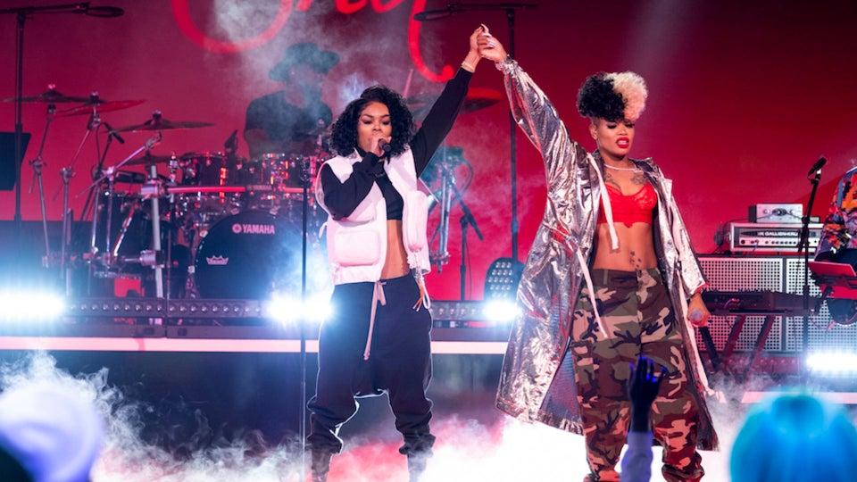 Teyana Taylor And Daughter Junie Surprise 'Rhythm + Flow' Contestant Londynn B