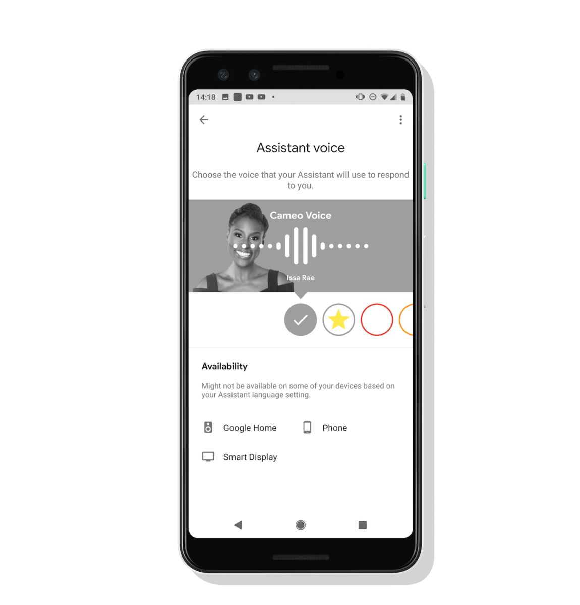Google Assistant voice screen