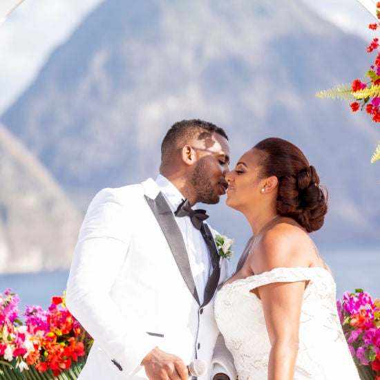 Bridal Bliss: Melissa and Hervan's Sunkissed Ceremony In St. Lucia Looked Like Absolute Paradise