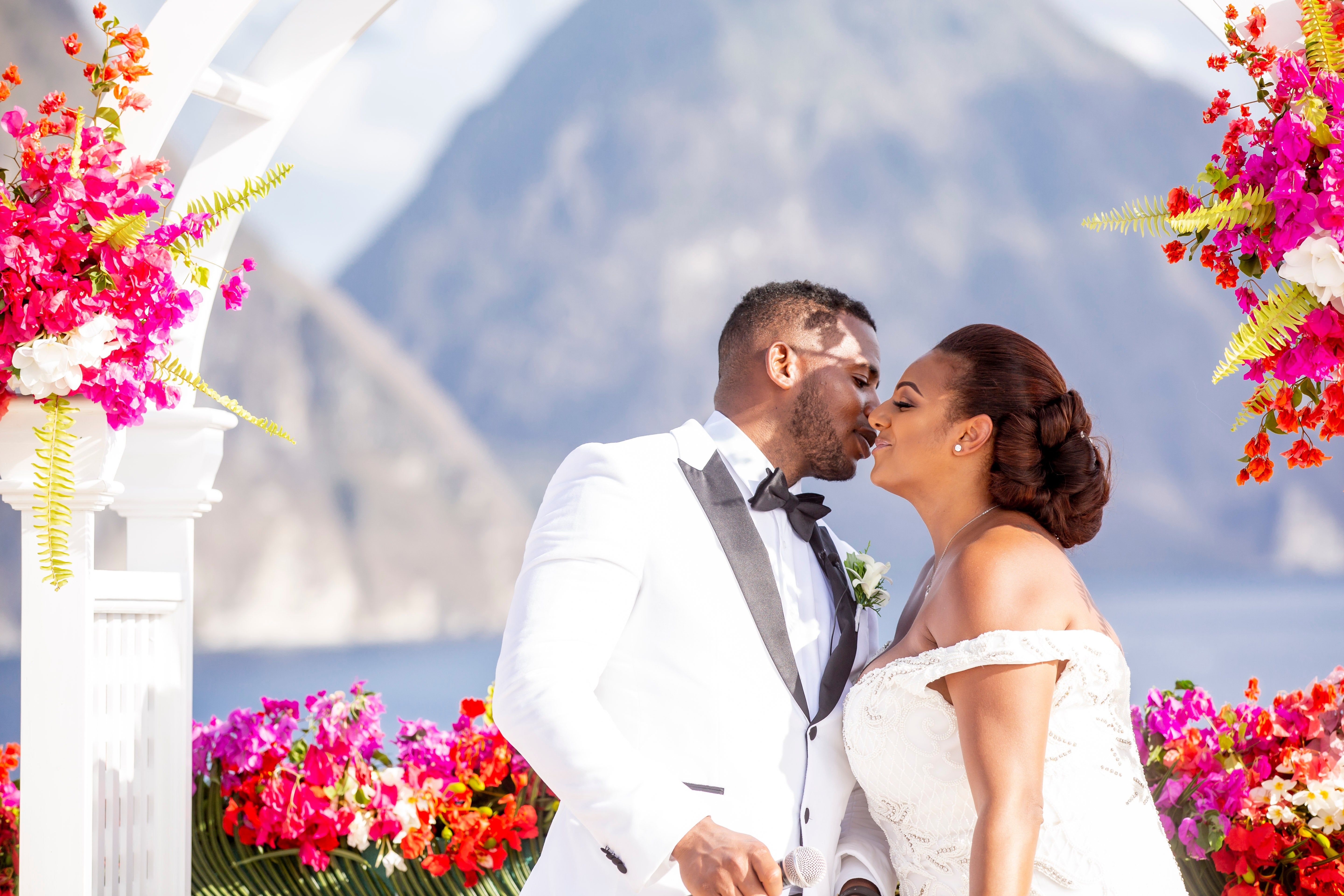 Bridal Bliss: Melissa and Hervan's St. Lucia's Wedding At Jade Mountain Resort