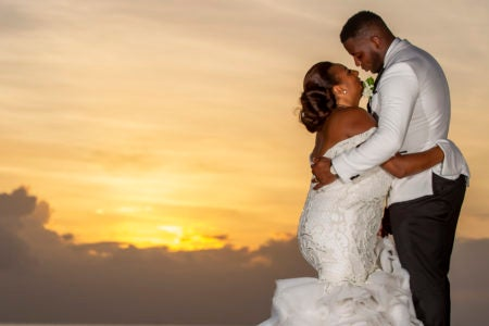 Bridal Bliss: Melissa and Hervan Exchanged Vows In At St. Lucia's Famous Jade Mountain Resort