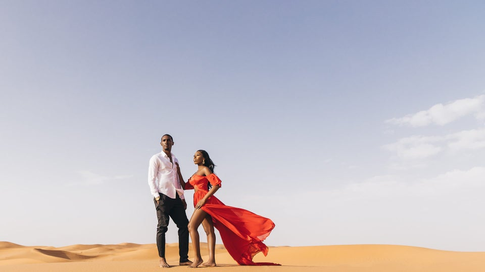 YouTubers Essie & Maurice Share Engagement Photos Shot In Morocco
