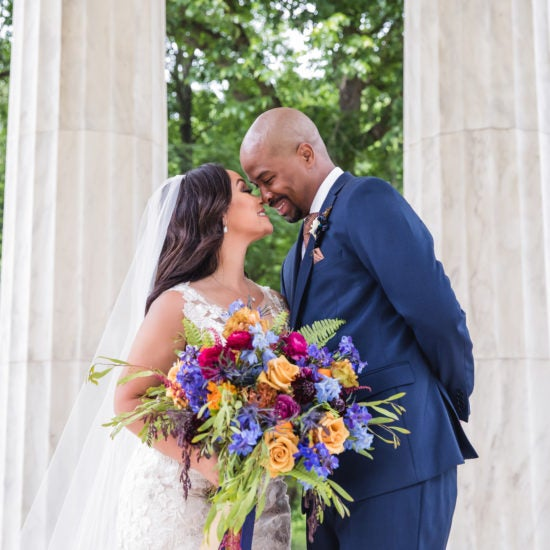 Bridal Bliss: Miya and Brandon's Washington, D.C., Wedding Was Intimate And Filled With Love