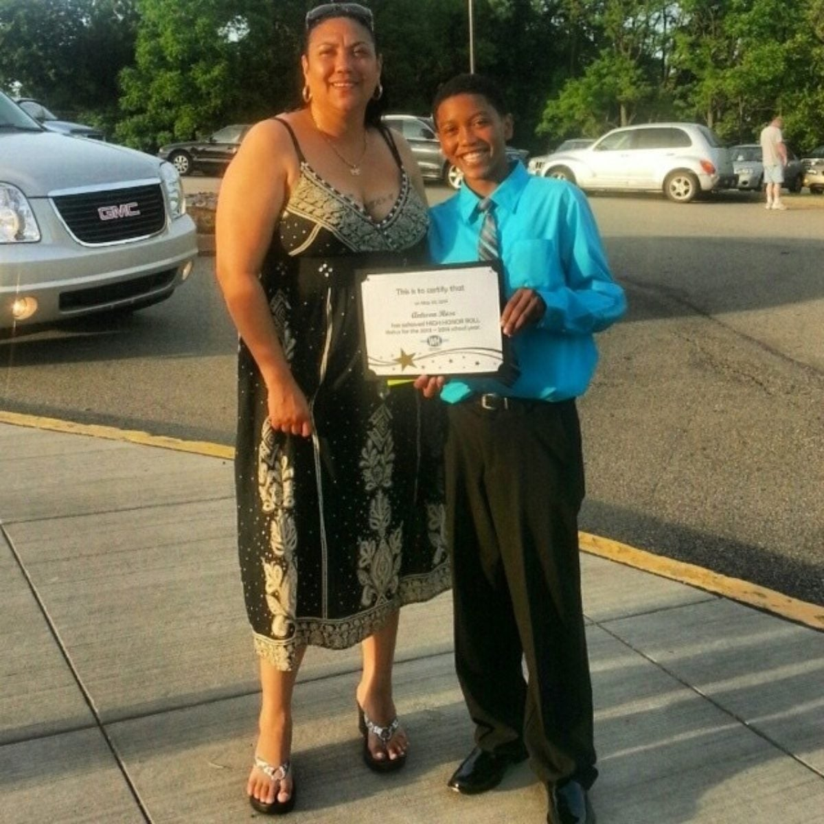 Antwon Rose's 8th grade graduation with High Honors