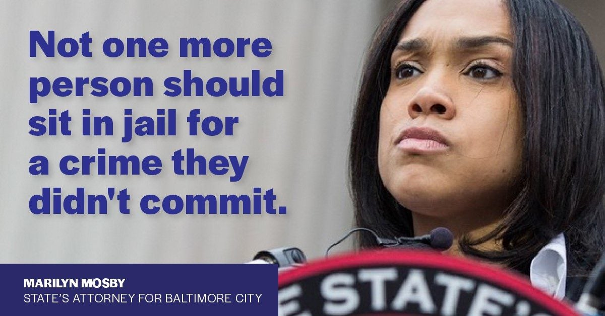 Marilyn Mosby speaks on three Baltimore men being exonerated of a 36-year-old crime.