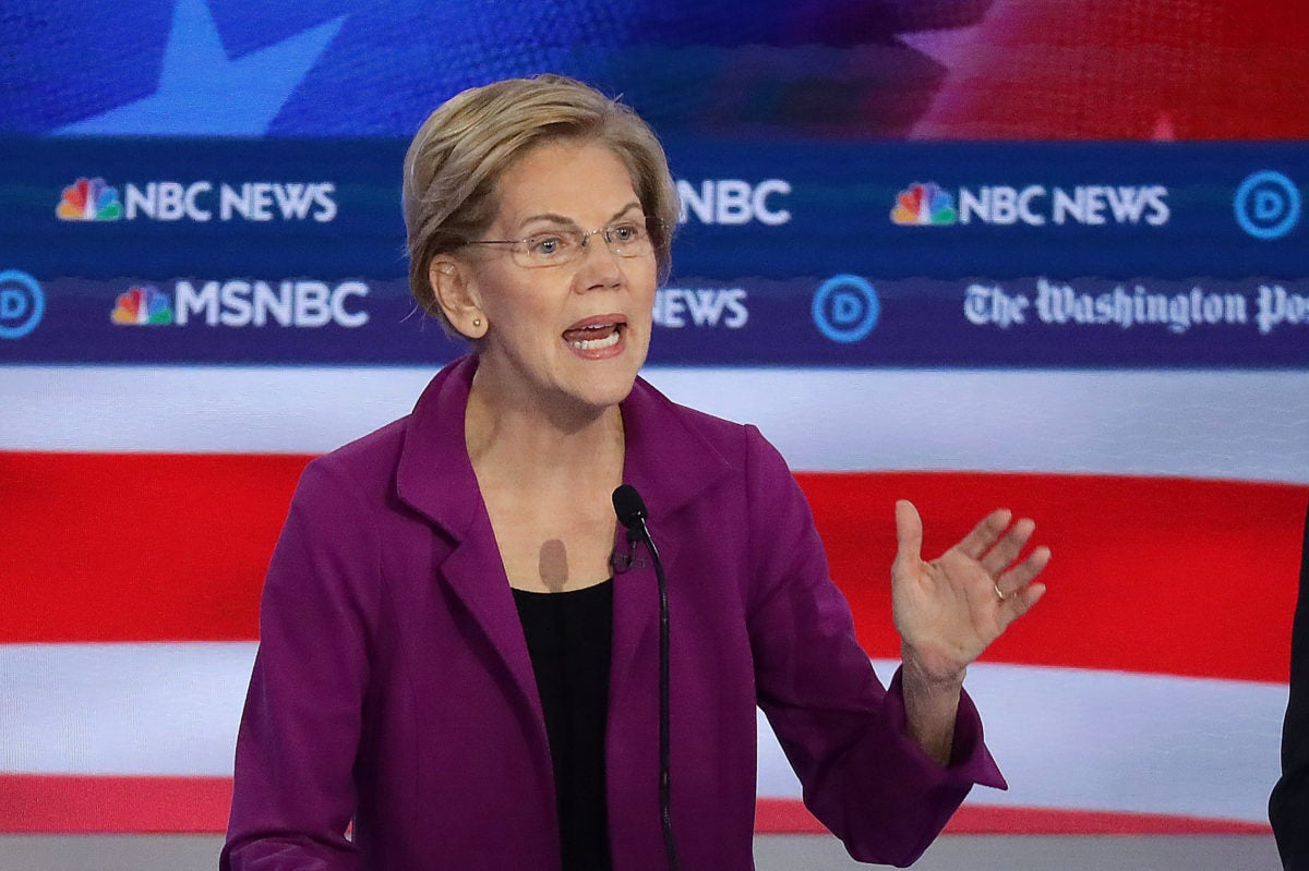 Elizabeth Warren at Democratic debate