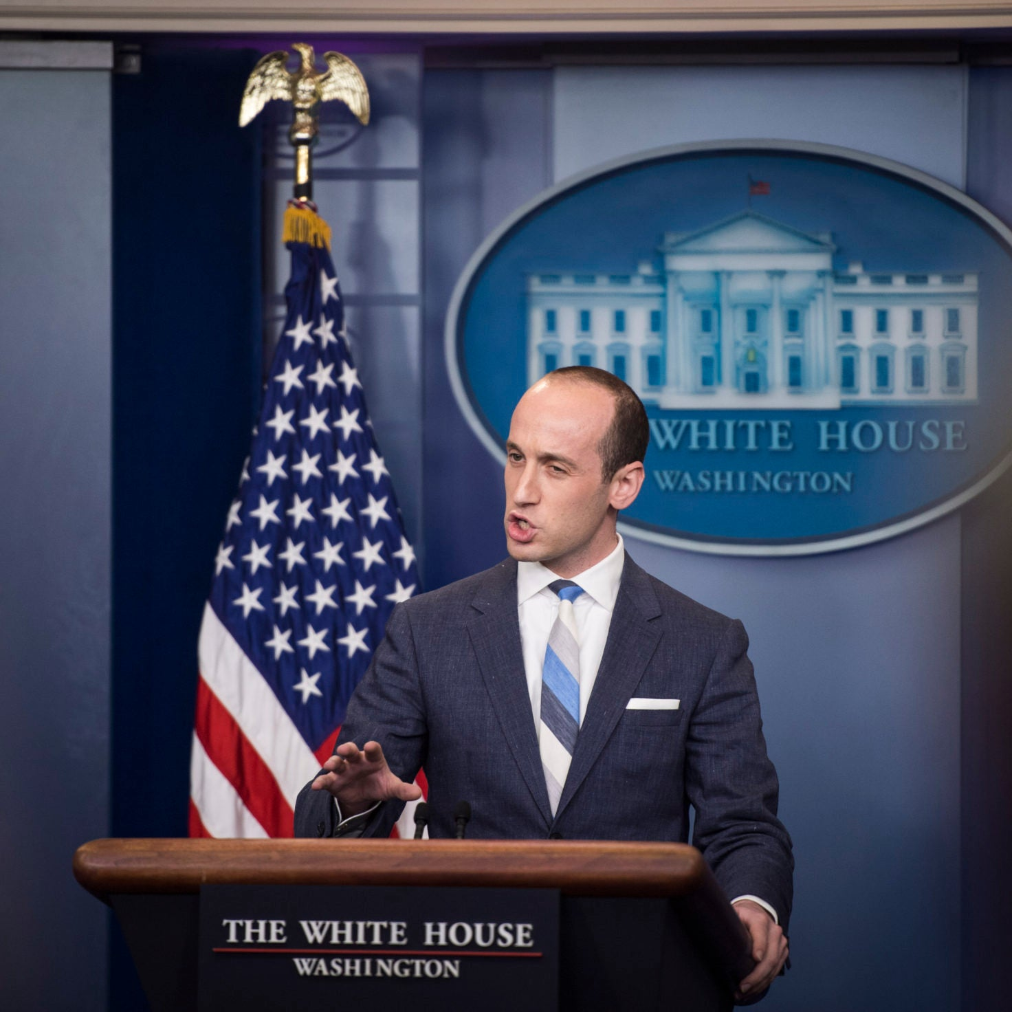Known White Supremacist Stephen Miller Rumored To Be Writing Trump Speech On Race Relations