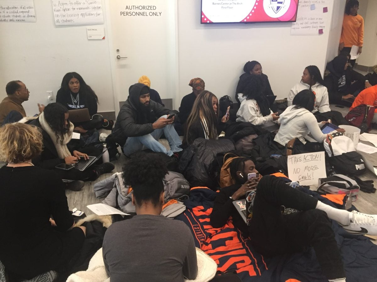 Black student activists occupy campus hub at Syracuse University