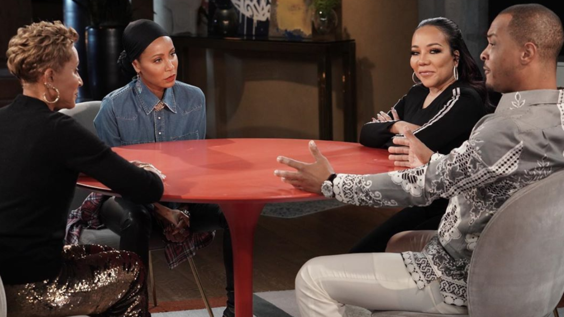 Jada Pinkett Smith Teases 'Red Table Talk' Interview With T.I. And Tiny Harris