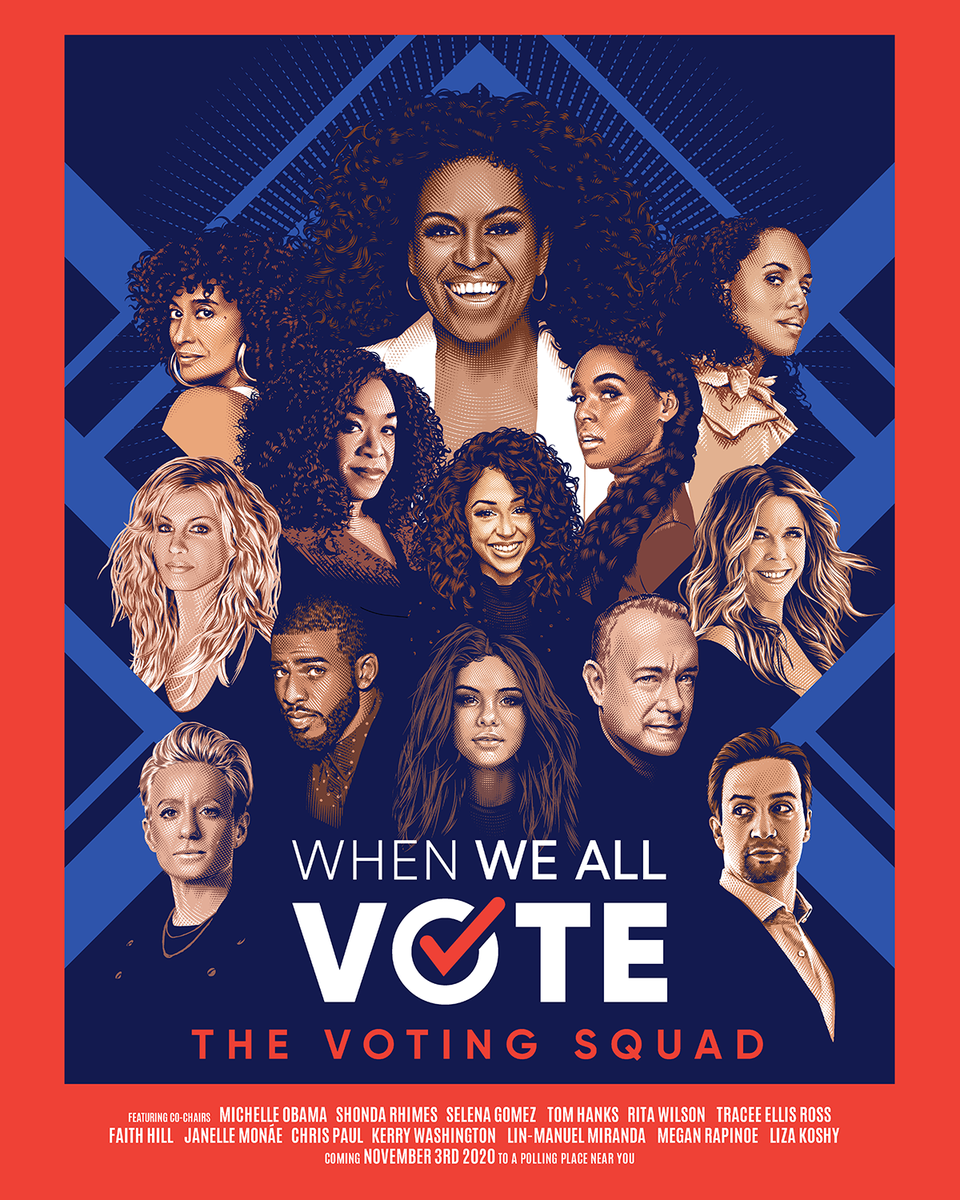 Shonda Rhimes, Tracee Ellis Ross and Kerry Washington Join Michelle Obama's 'Voting Squad'