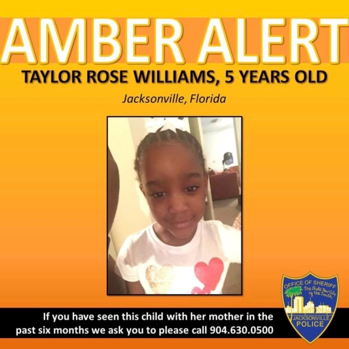 Amber Alert for Taylor Rose Williams