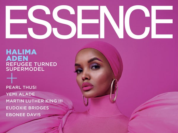 First Look: Model Halima Aden Celebrates Disrupting Traditional Beauty Standards On January/February 2020 Cover Of ESSENCE Magazine