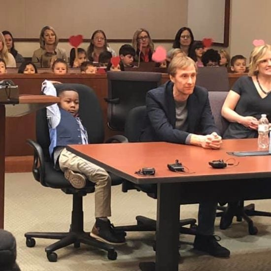 Kindergarten Class Takes Field Trip To Support Classmate At Adoption Hearing