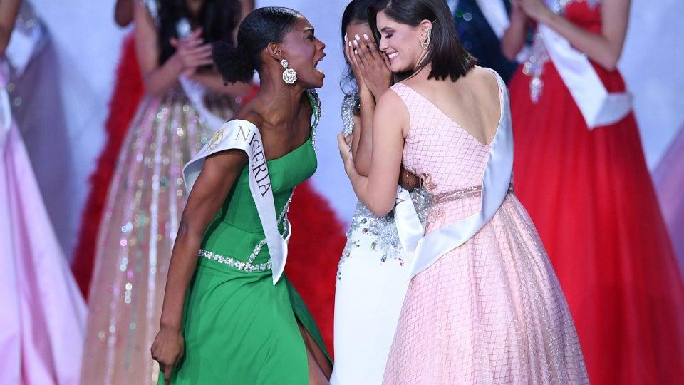 Miss Nigeria's Praise Dance For Fellow Contestant's Win Is Friendship Goals