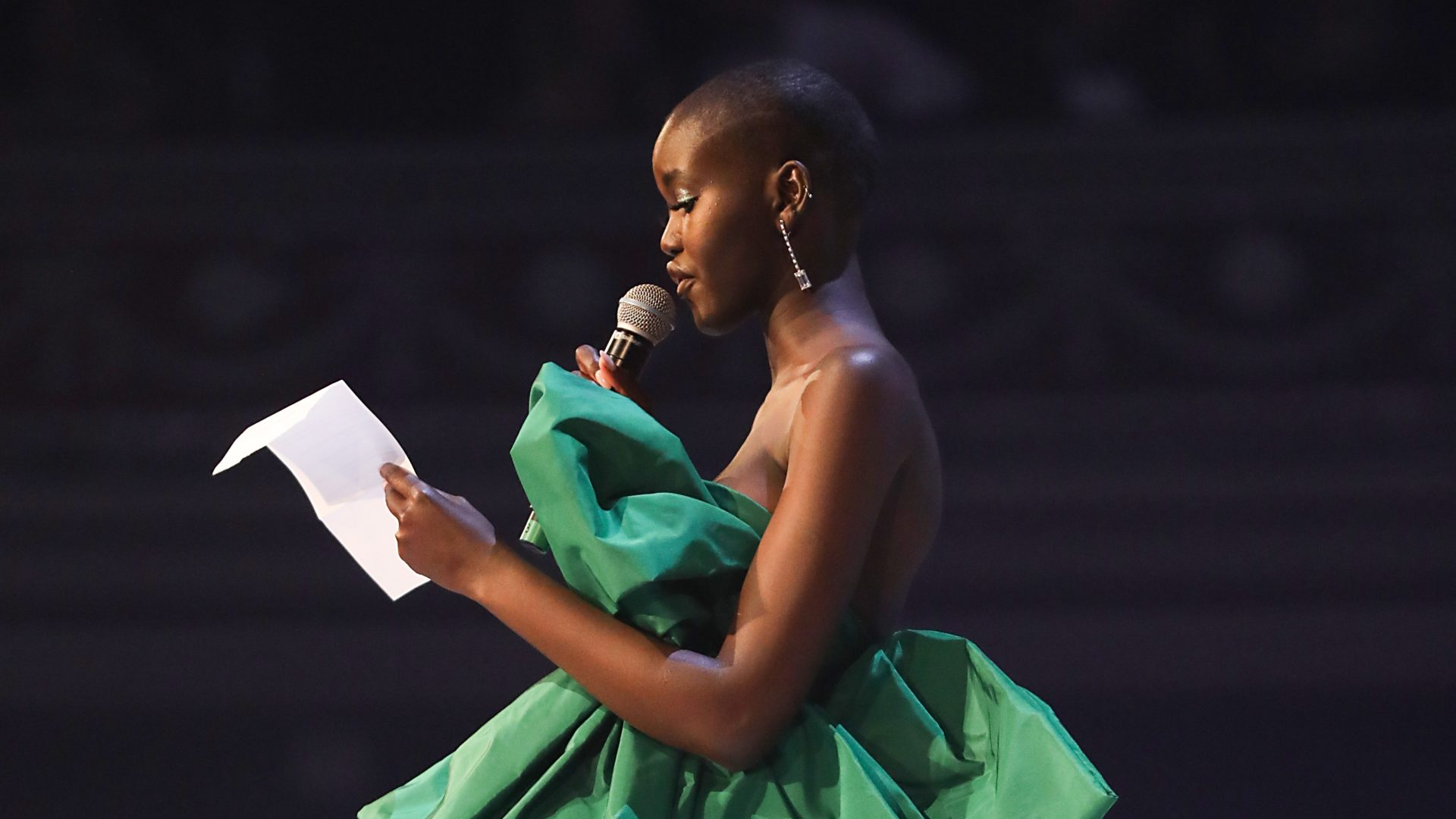 Adut Akech Wins Model Of The Year At Fashion Awards