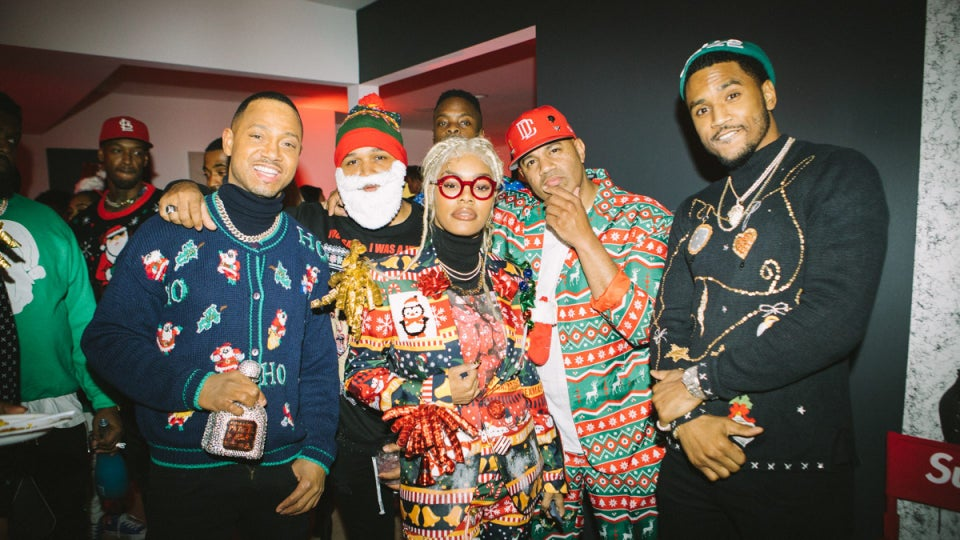 Terrence J Threw An Epic Ugly Sweater Christmas Party