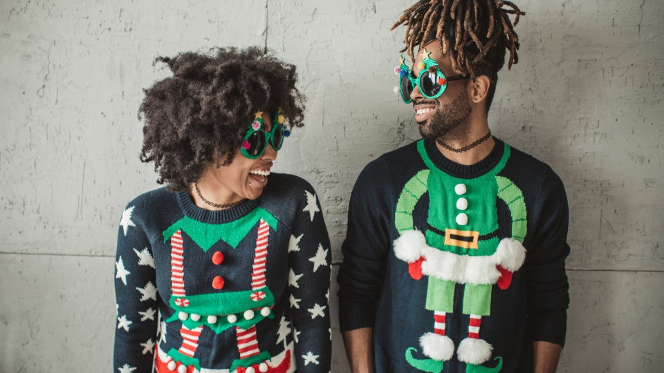 Forget Ugly Christmas Sweaters, Try These Black Beauty Sweatshirts