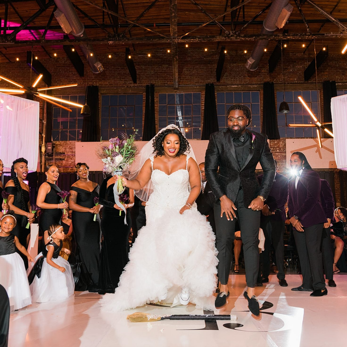Bridal Bliss: Brandon and Brea Jumped The Broom In Style