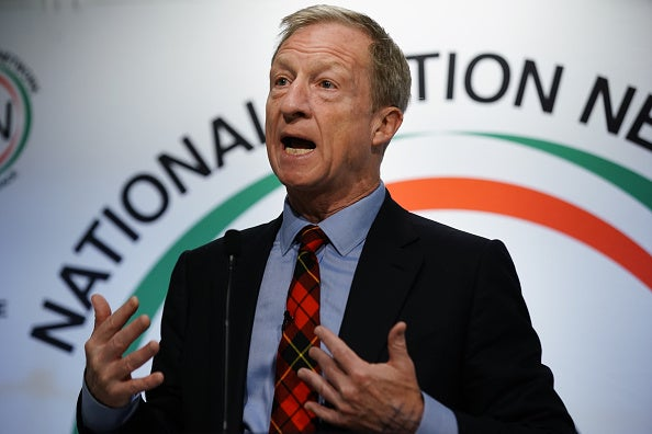 U.S. Democratic presidential candidate Tom Steyer speaks at the National Action Networks Southeast Regional Conference on November 21, 2019 in Atlanta, Georgia.