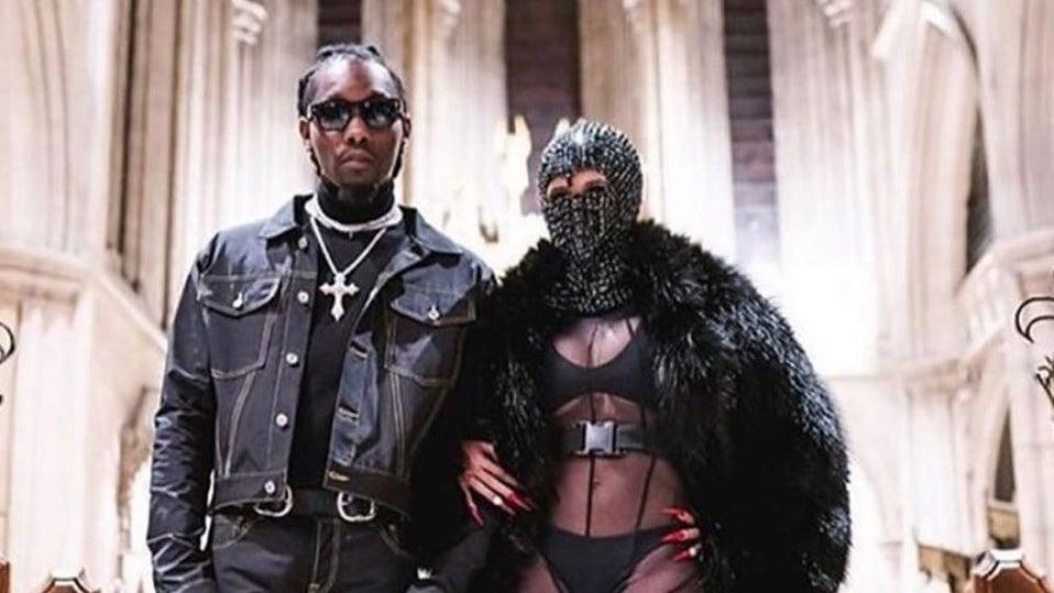 Cardi B And Offset Make Appearance At Paris Fashion Week