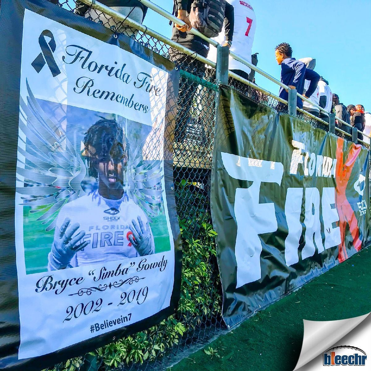 """poster remembering Bryce """"Simba"""" Gowdy who died by suicide on Dec. 30"""