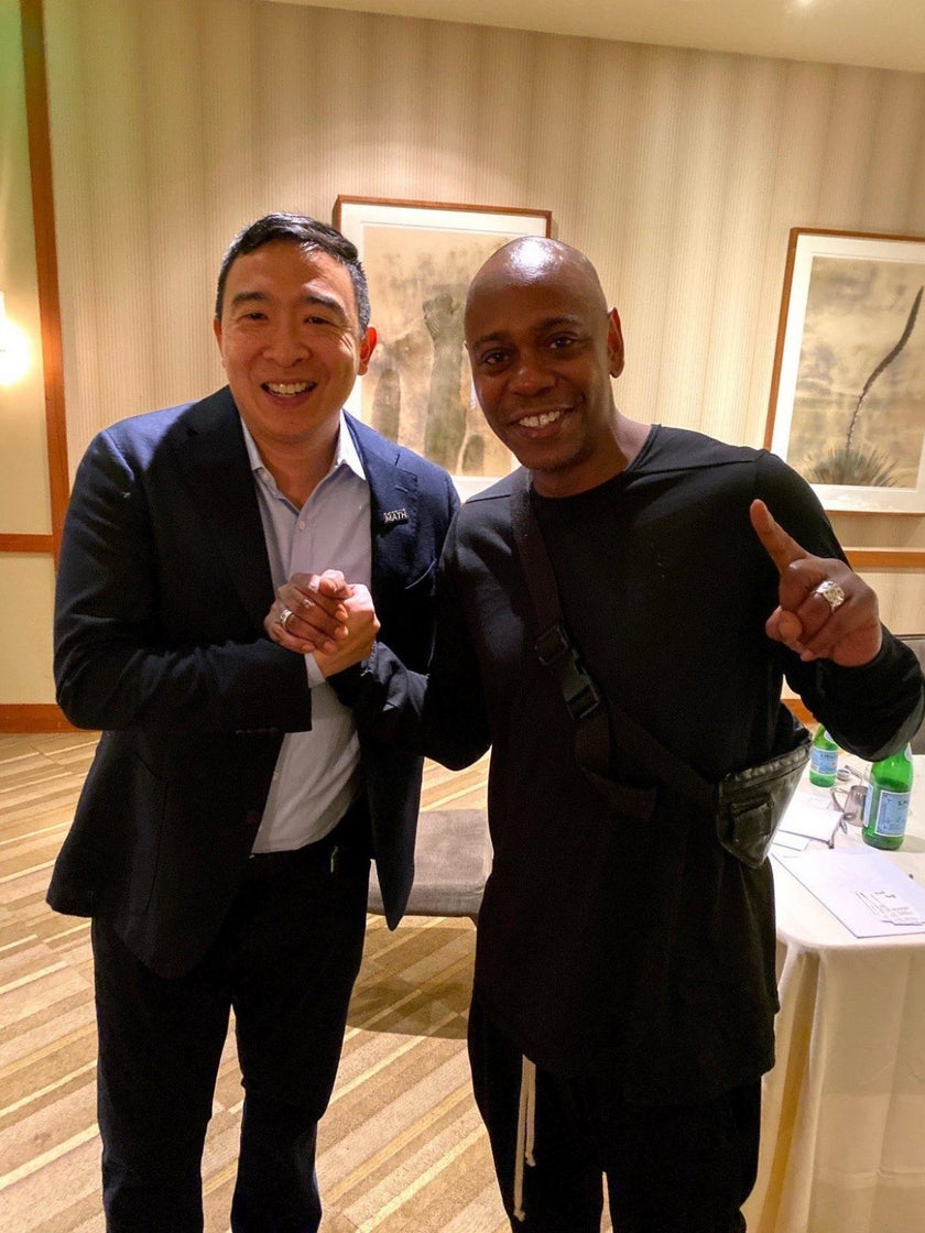 Dave Chappelle Endorses Andrew Yang