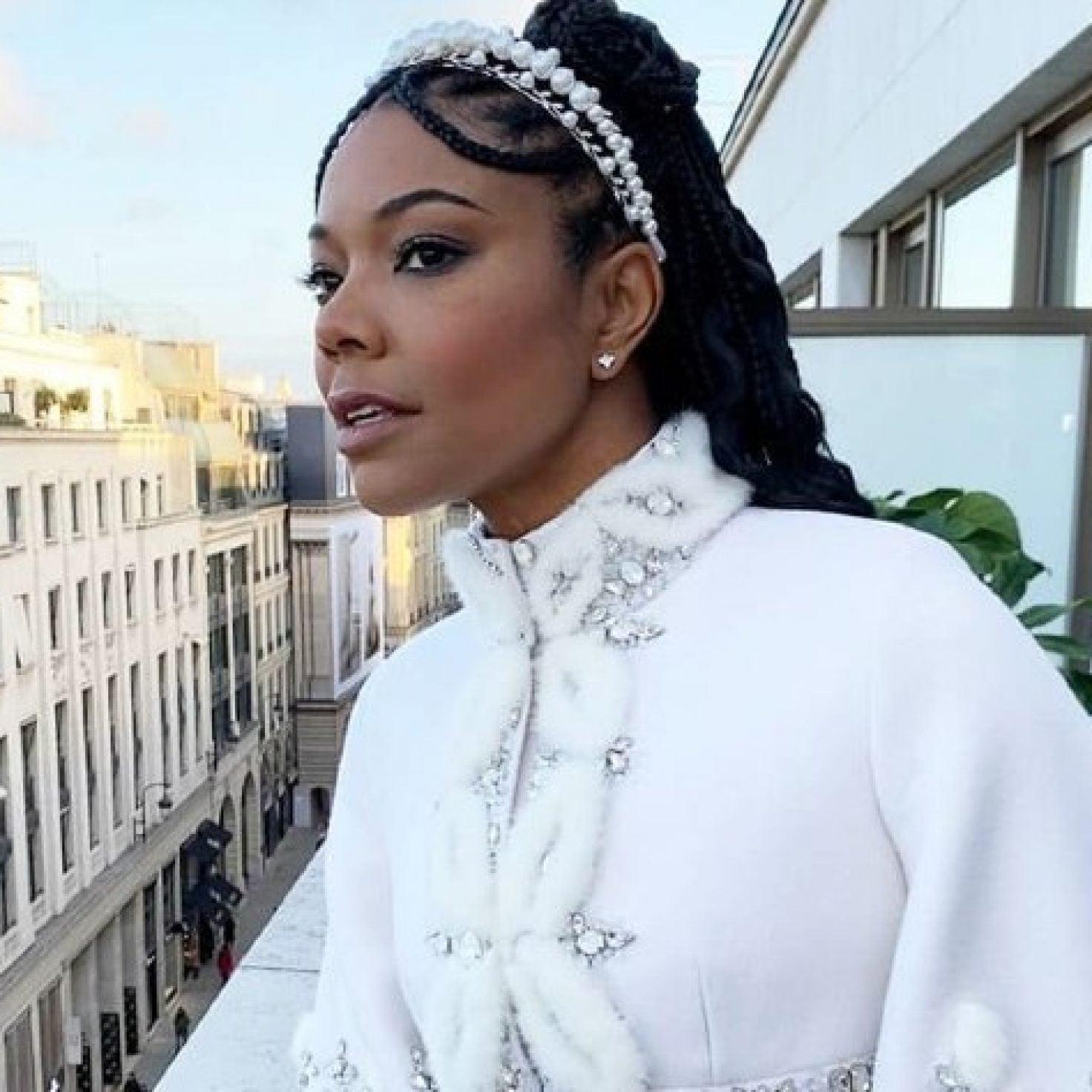 Get Gabrielle Union's Romantic Paris Fashion Week Hair With These Pearl Headbands
