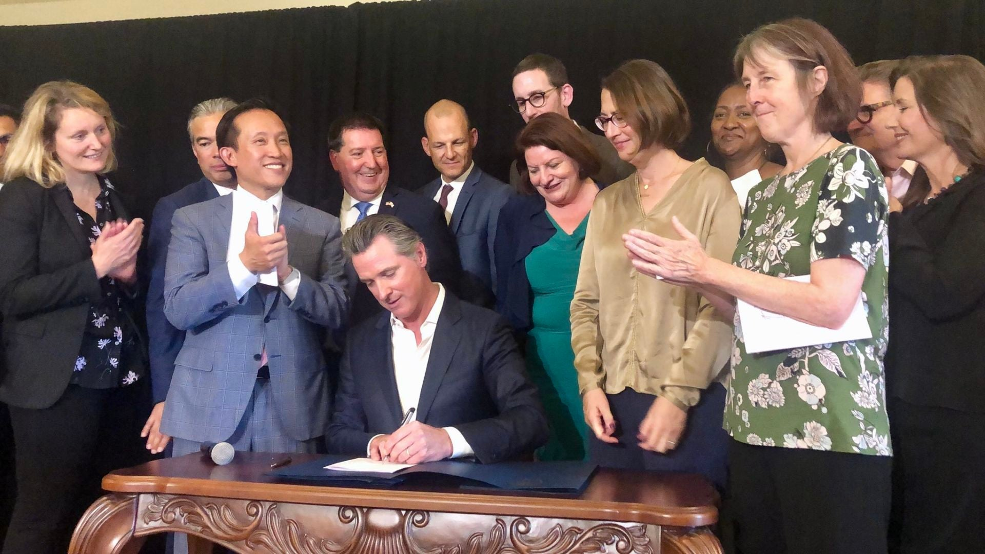 Gavin Newsom signs a renter's protection bill months before making diapers tax-free.