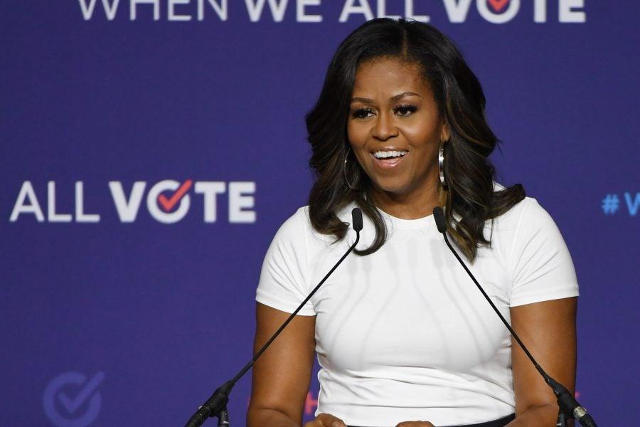 Michelle Obama Posts 80's Prom Photo