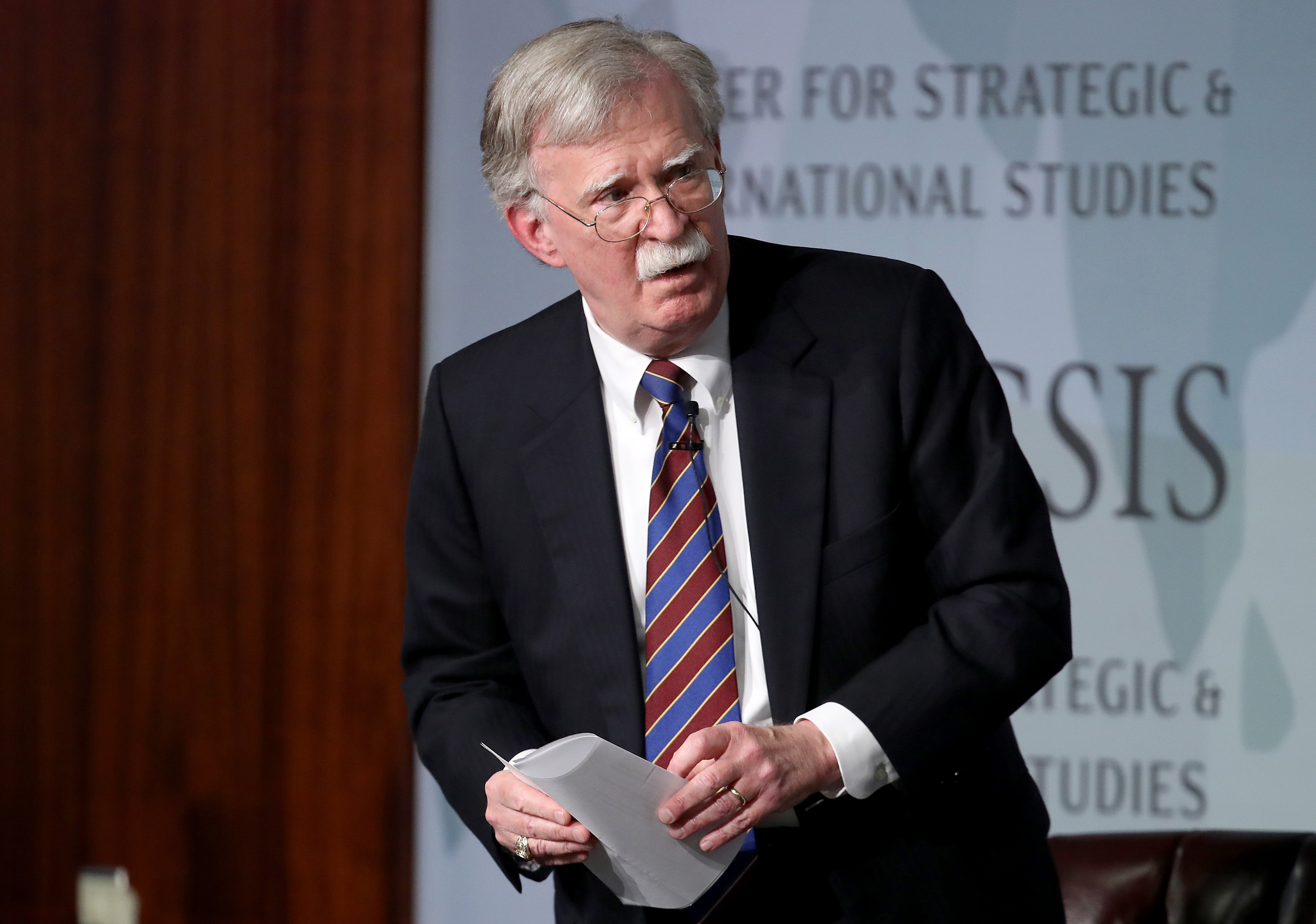 John Bolton appears at the Center for Strategic and International Studies
