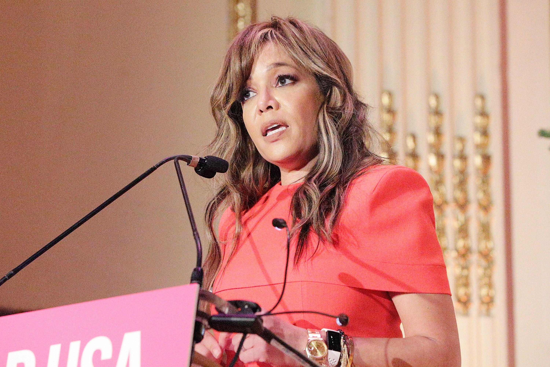 Sunny Hostin speaks during the Help USA Scholarship Awards luncheon