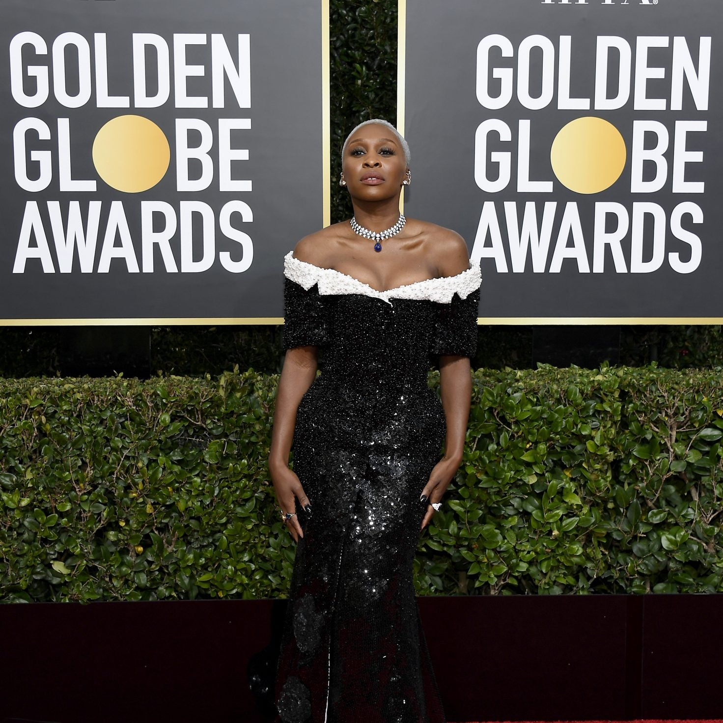 Cynthia Erivo Stunned In Custom Thom Browne At The 2020 Golden Globe Awards