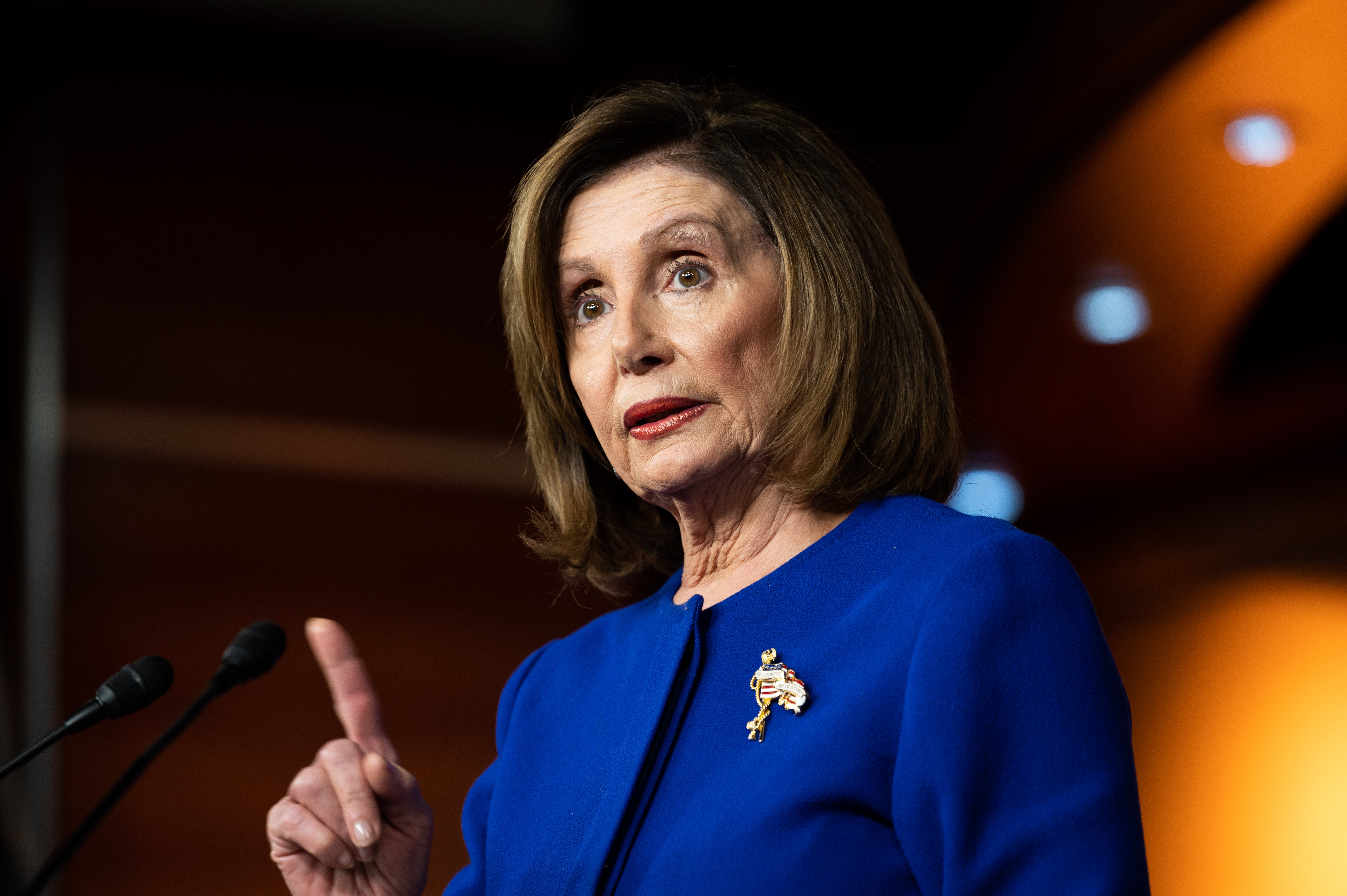 Nancy Pelosi days before naming impeachment managers