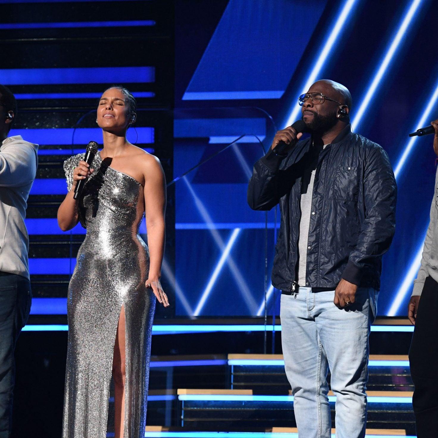 RIP Kobe Bryant: Alicia Keys And Boyz II Men Open Grammy Awards With 'It's So Hard to Say Goodbye'