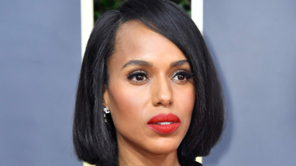 Kerry Washington Wore Her Natural Hair In A Sleek Bob At The Golden Globes