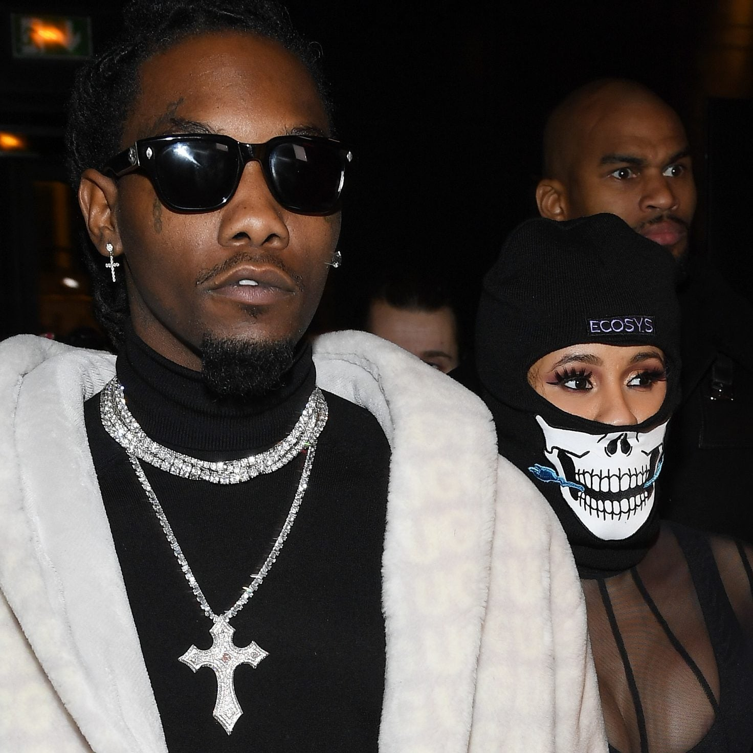 Cardi B And Offset Make An Appearance At Men's Fashion Week In Paris