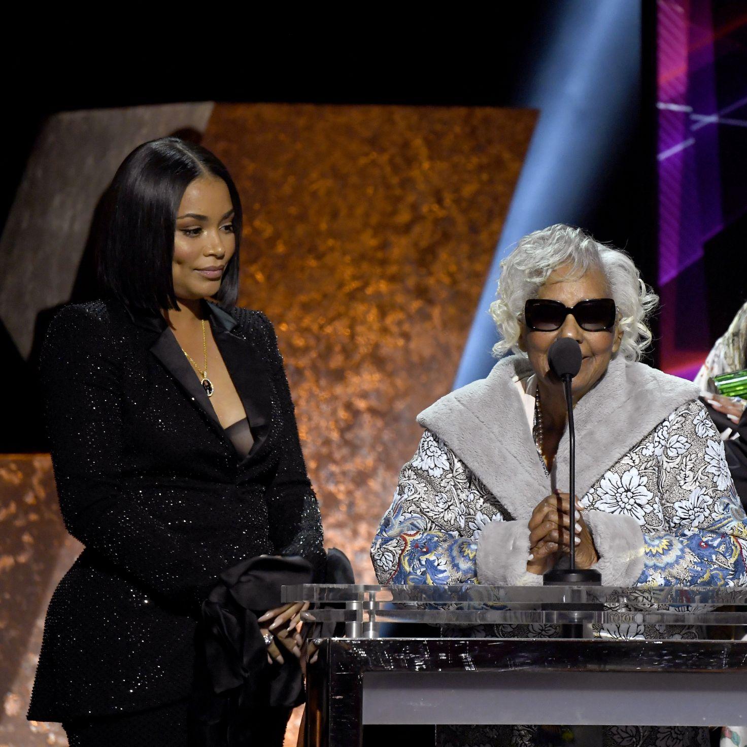 Nipsey Hussle's Grandmother Joins Lauren London For Heartfelt Grammy Acceptance Speech