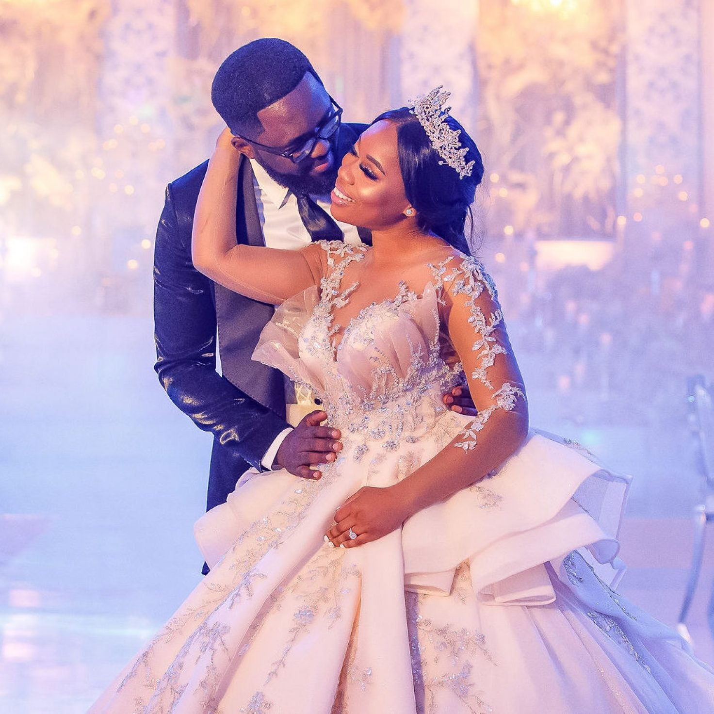 Bridal Bliss: Mercy and Edmond's Heavenly Houston Wedding Looked Like A Fairy Tale