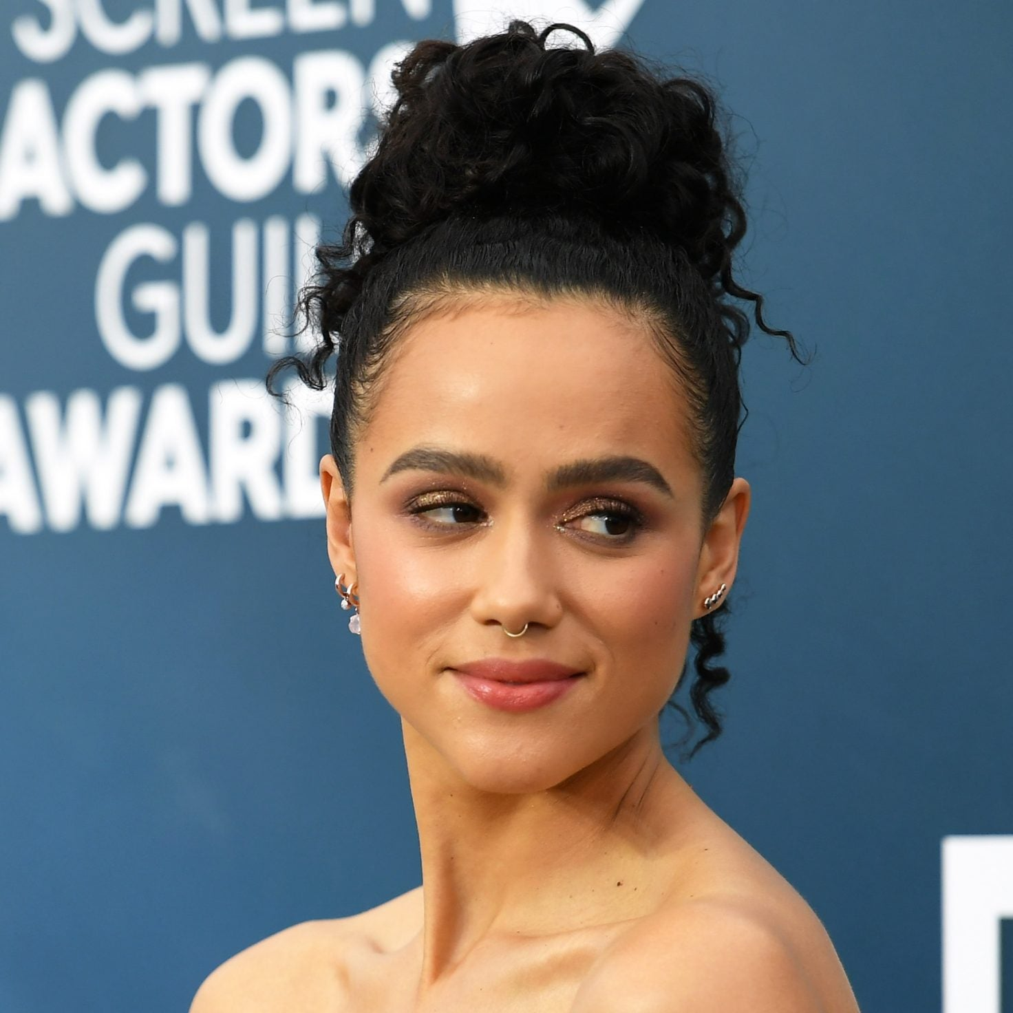 'Game Of Thrones' Actress Nathalie Emmanuel Blossomed In Miu Miu On The SAG Red Carpet