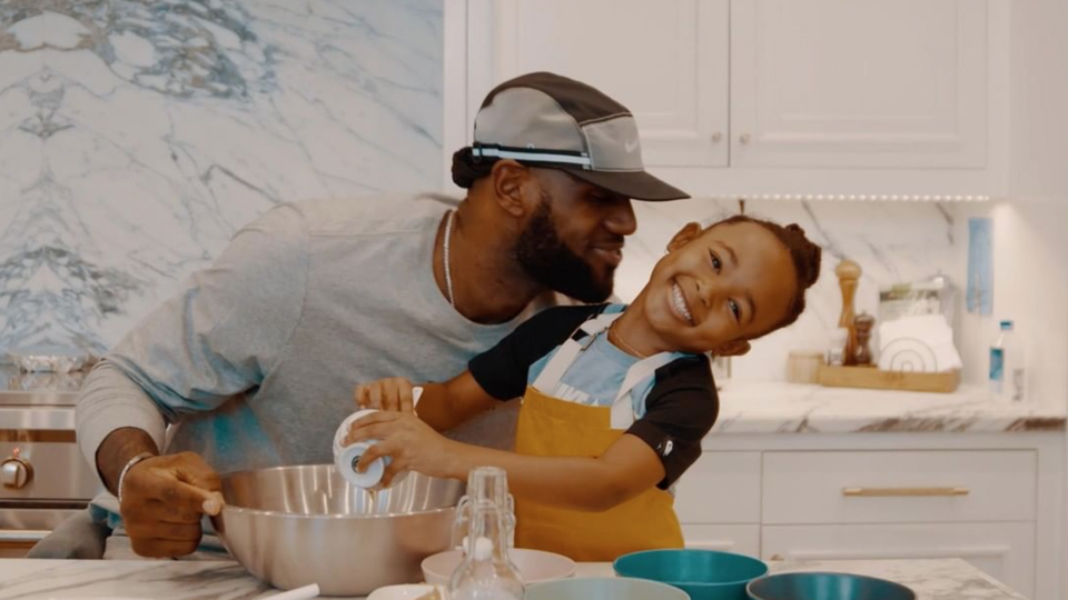 LeBron James Films The Cutest Cooking Tutorial With His Daughter Zhuri
