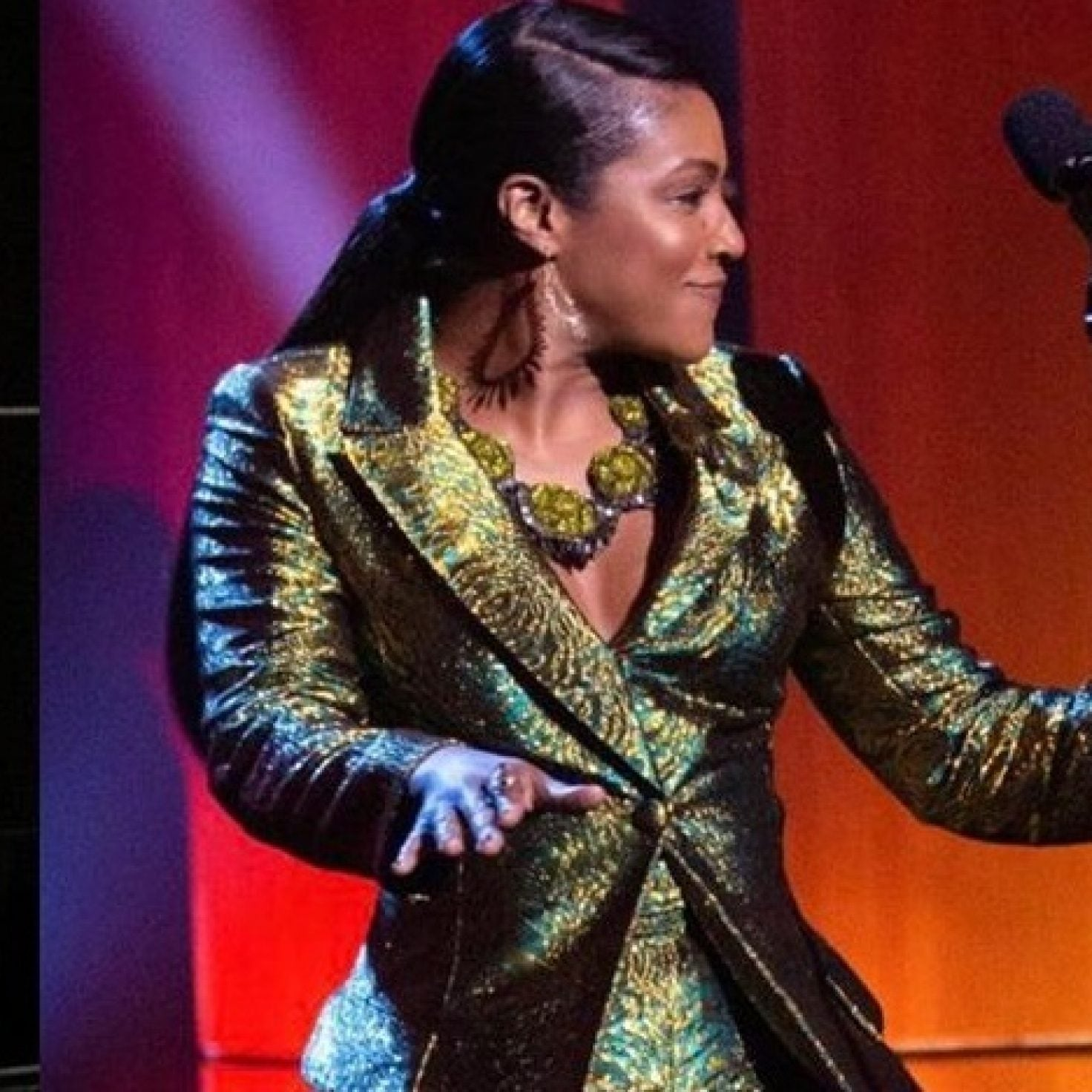 Here's The Custom Suit Beyonce Gifted Tiffany Haddish