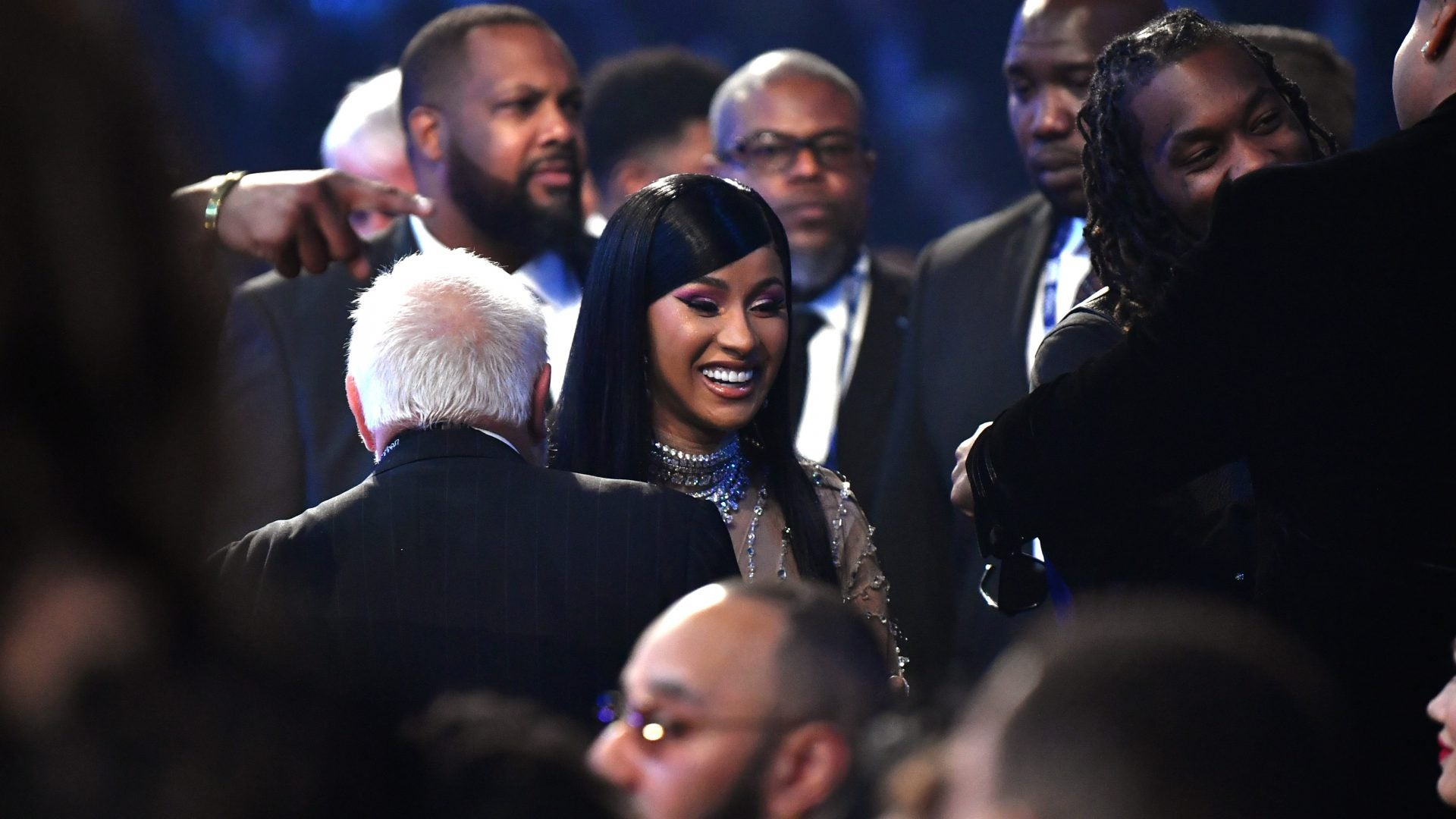 Cardi B Skipped The Grammys Red Carpet But Here's Her Look