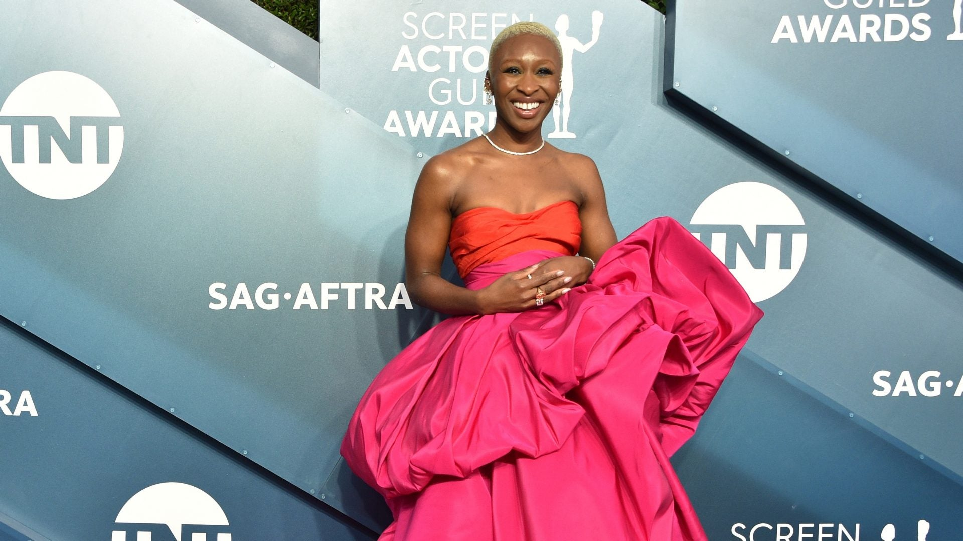 Cynthia Erivo Is Pretty In Pink At The SAG Awards