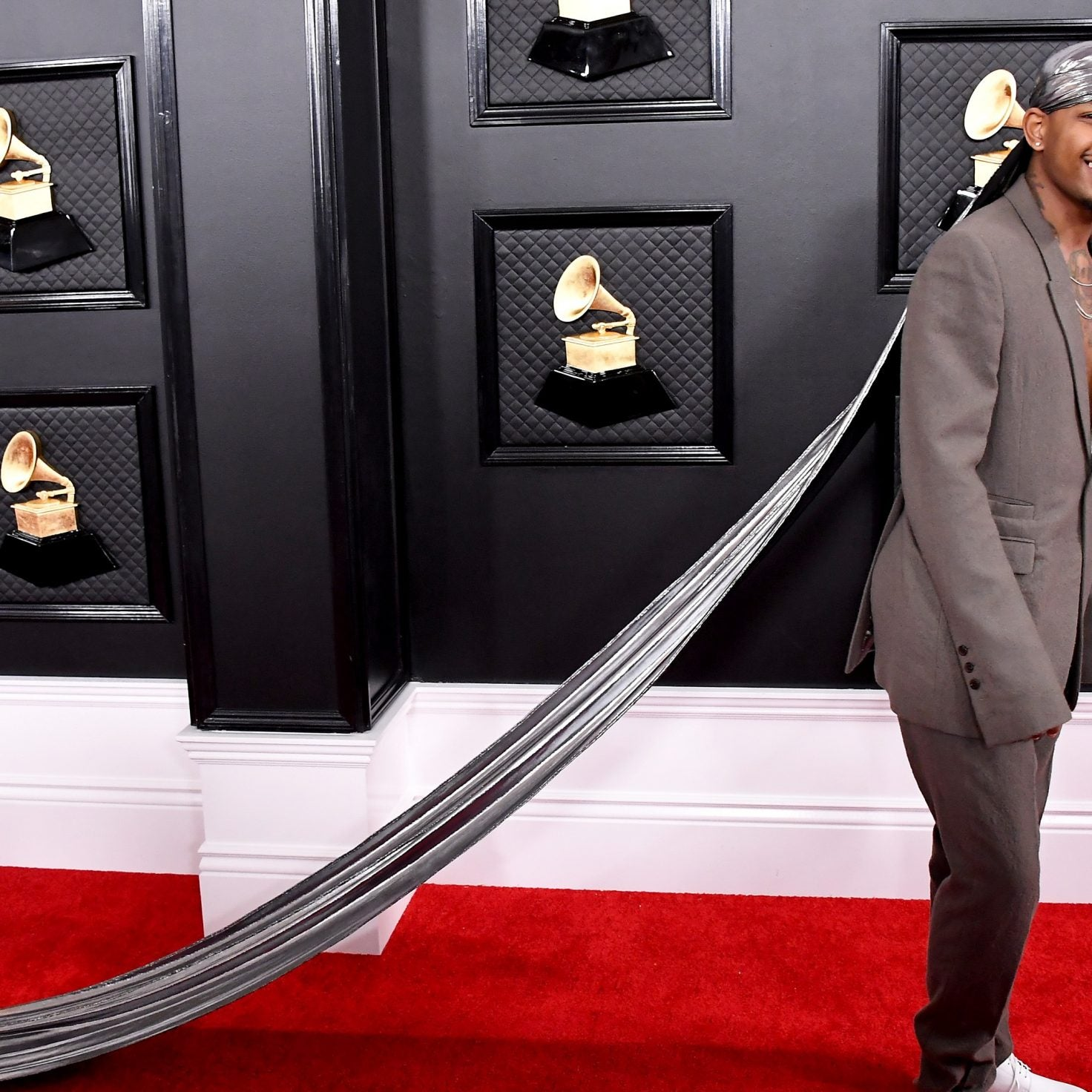 Guapdad 4000 Attends The Grammys In A 10-Foot-Long Durag