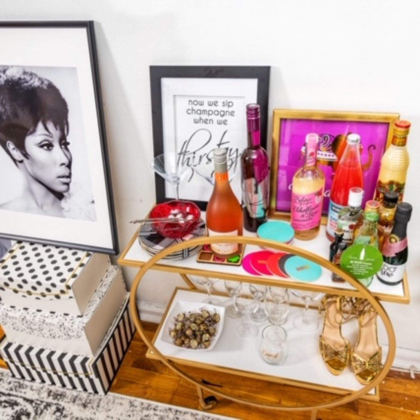 How Every Black Woman Can Create A Sexy And Stylish Bar Cart At Home