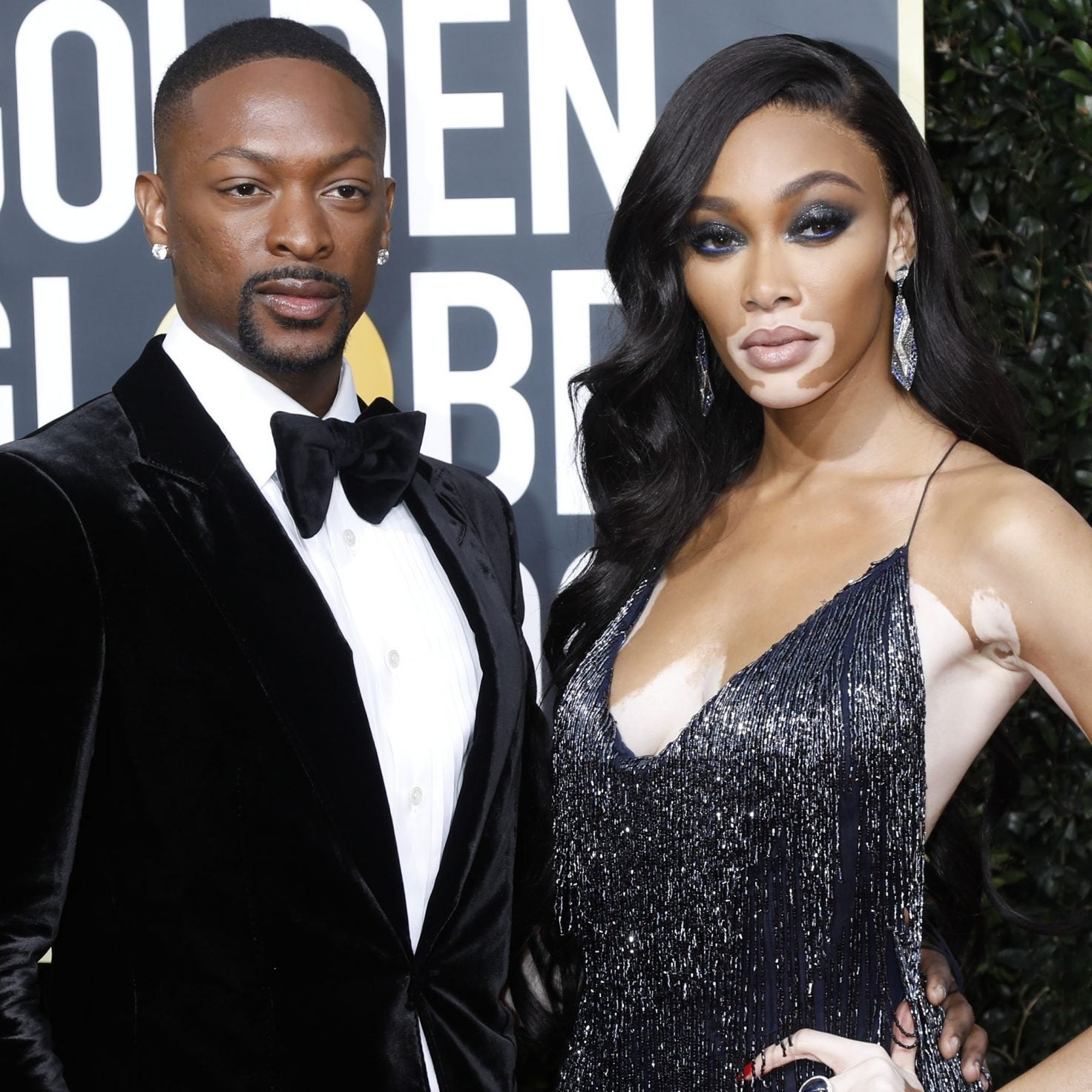 Winnie Harlow And Laquan Smith Were The Chicest Couple At The Golden Globes