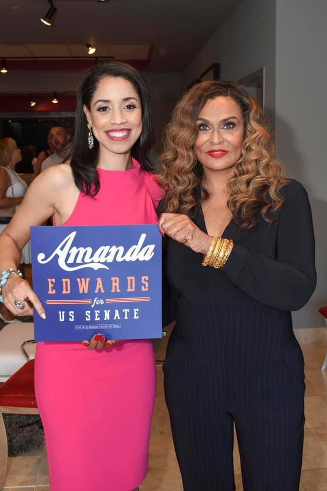 Amanda K. Edwards with Tina Knowles Lawson